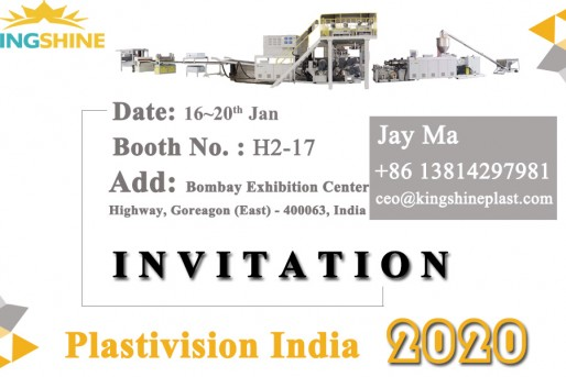 Kingshine is attending the India plastic exhibition