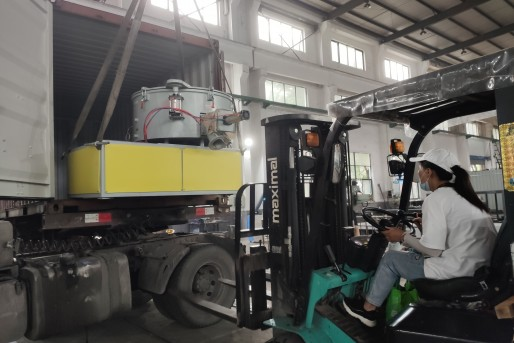 Loading WPC Door Frame Production Line to India